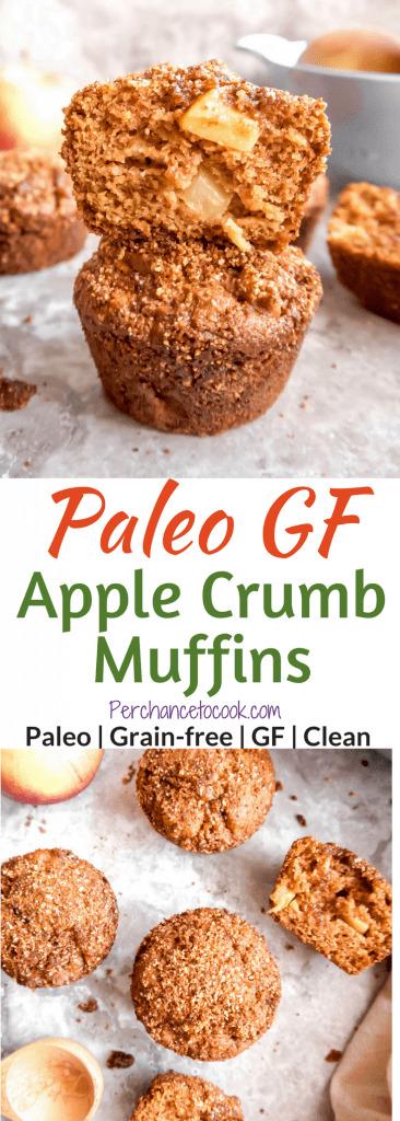 Paleo Gluten-Free Apple Crumb Muffins   Perchance to Cook, www.perchancetocook.com
