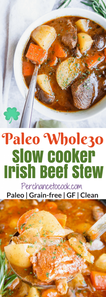 Paleo Slow Cooker Irish Beef Stew (Whole30) | Perchance to Cook, www.perchancetocook.com