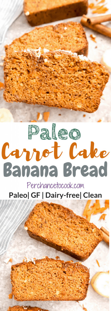 Paleo Carrot Cake Banana Bread (GF)   Perchance to Cook, www.perchancetocook.com