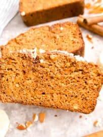 Paleo Carrot Cake Banana Bread (GF) | Perchance to Cook, www.perchancetocook.com