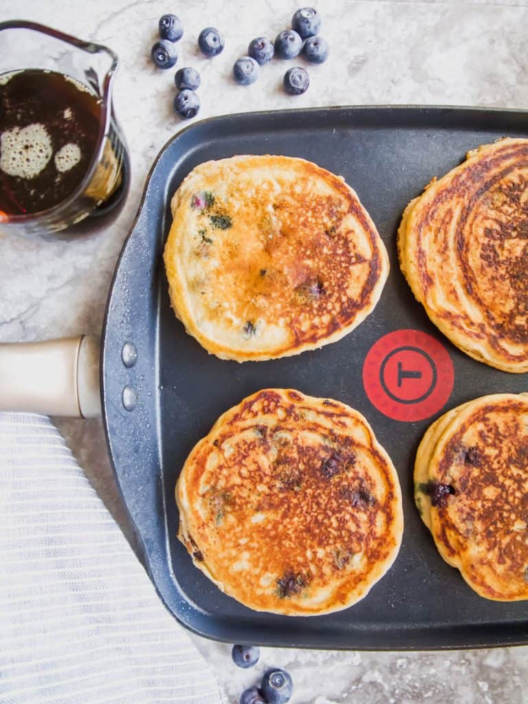 The BEST Paleo Blueberry Pancakes (GF) | Perchance to Cook, www.perchancetocook.com