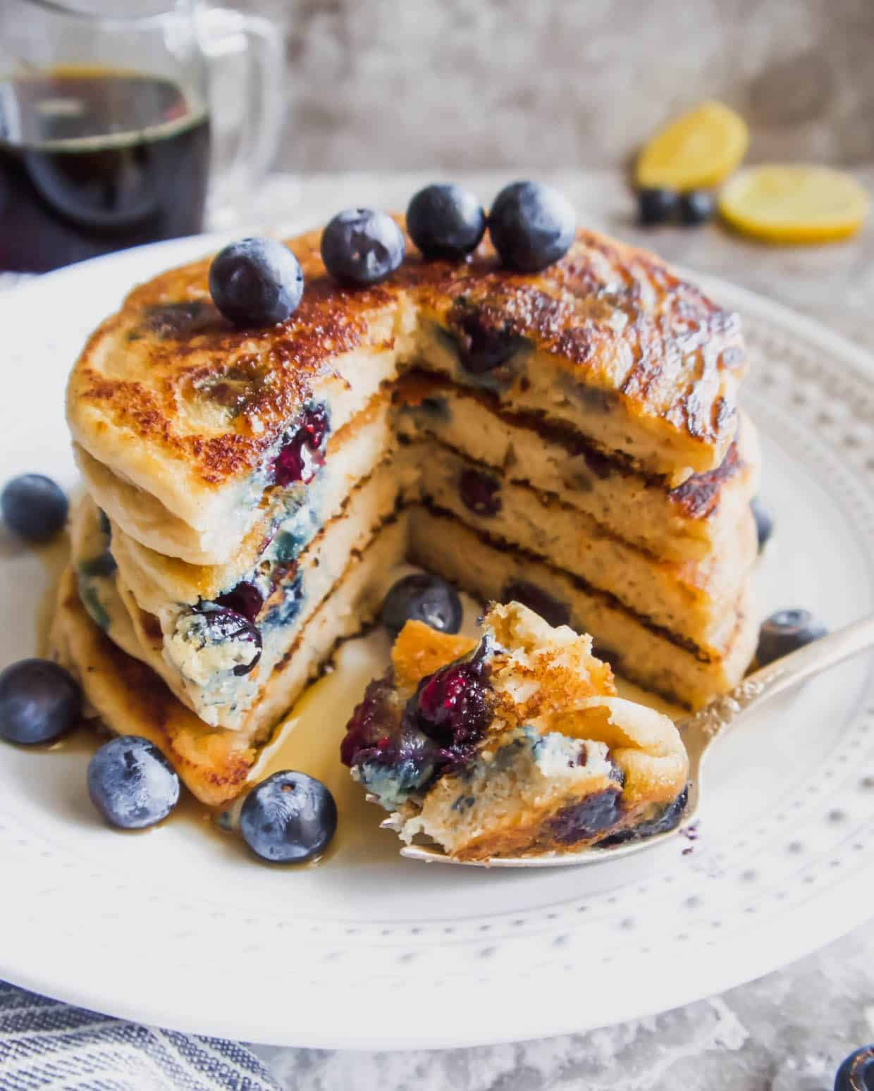 The Best Paleo Blueberry Pancakes Gf