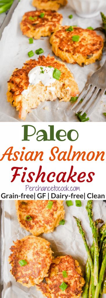 Paleo Asian Salmon Fishcakes (GF) | Perchance to Cook, www.perchancetocook.com