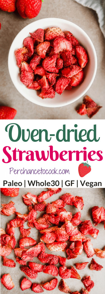 Oven-Dried Strawberries (Paleo, GF, Whole30) | Perchance to Cook, www.perchancetocook.com