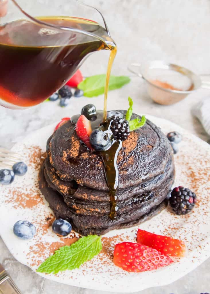 Paleo Carob Pancakes (GF) | Perchance to Cook, www.perchancetocook.com
