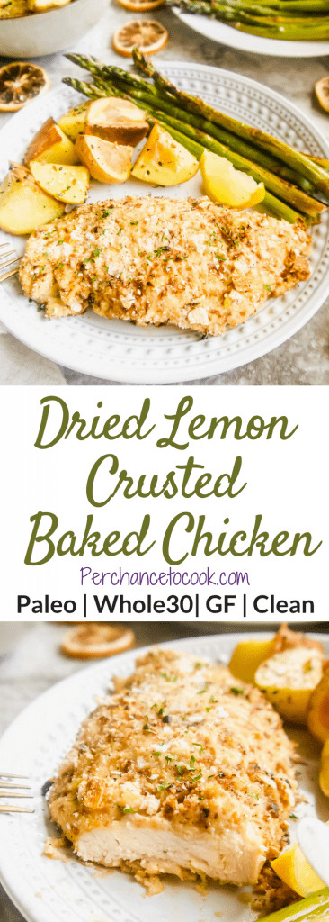 Dried Lemon Crusted Baked Chicken (Paleo, Whole30)   Perchance to Cook, www.perchancetocook.com