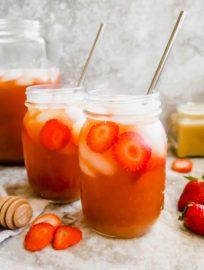 Strawberry Sweet Iced Tea (Paleo, GF) | Perchance to Cook, www.perchancetocook.com