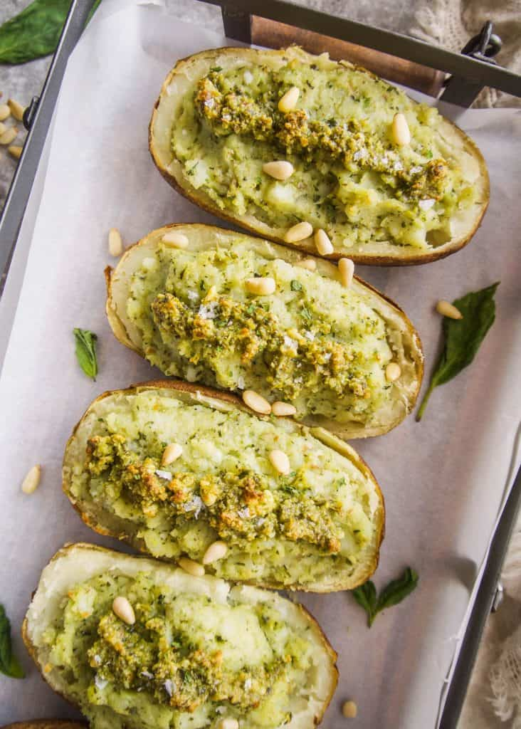 Paleo Whole30 Twice Baked Pesto Potatoes   Perchance to Cook, www.perchancetocook.com