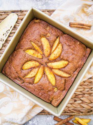 Paleo Nectarine Banana Cake (GF) | Perchance to Cook, www.perchancetocook.com