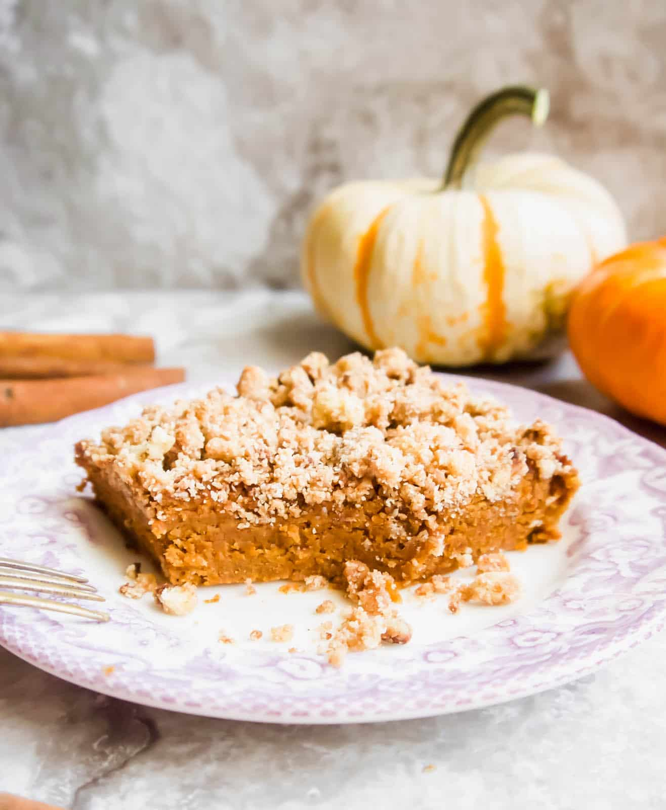 Paleo Gluten Free Pumpkin Coffee Cake