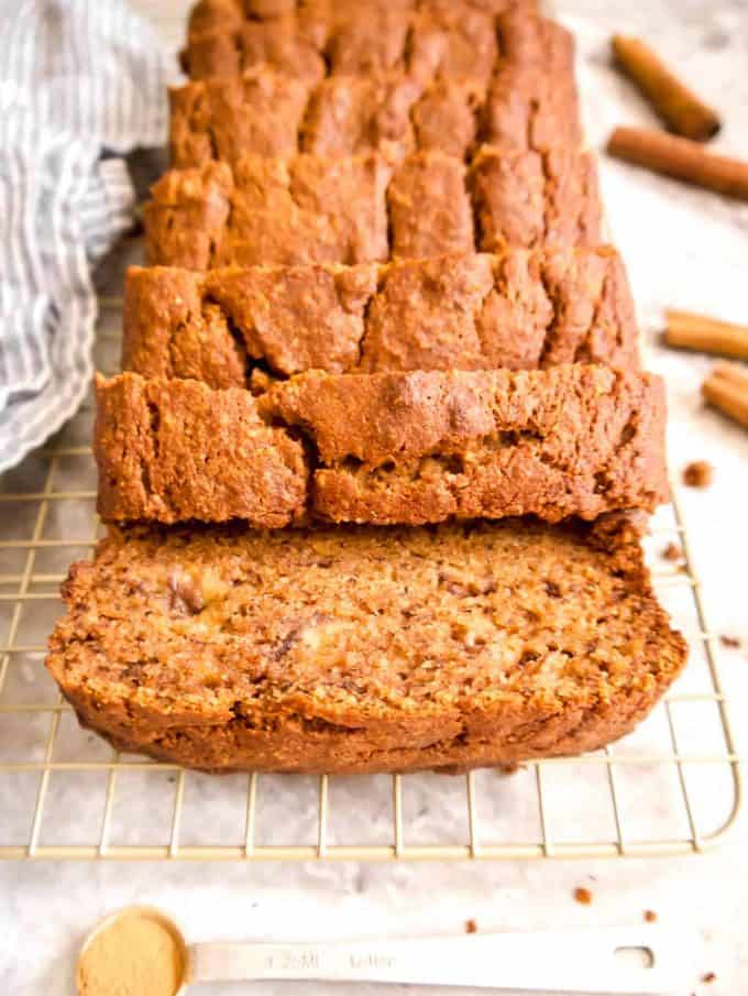 Cinnamon Banana Bread (Paleo, Gluten-free) | Perchance to Cook, www.perchancetocook.com