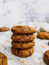 Soft Paleo Pumpkin Molasses Cookies ( GF ) | Perchance to Cook, www.perchancetocook.com