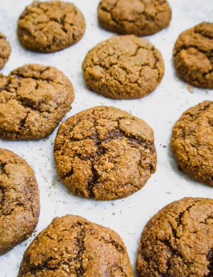 Soft Paleo Pumpkin Molasses Cookies ( GF )   Perchance to Cook, www.perchancetocook.com