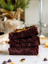 Chocolate Orange Fudgy Brownies (Paleo, GF) | Perchance to Cook, www.perchancetocook.com