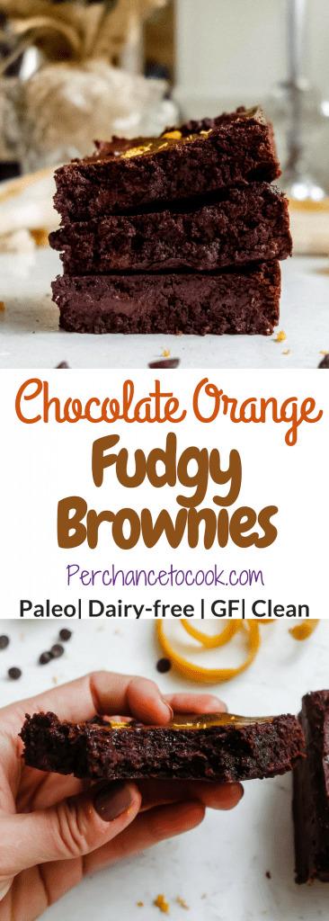 Chocolate Orange Fudgy Brownies (Paleo, GF)   Perchance to Cook, www.perchancetocook.com