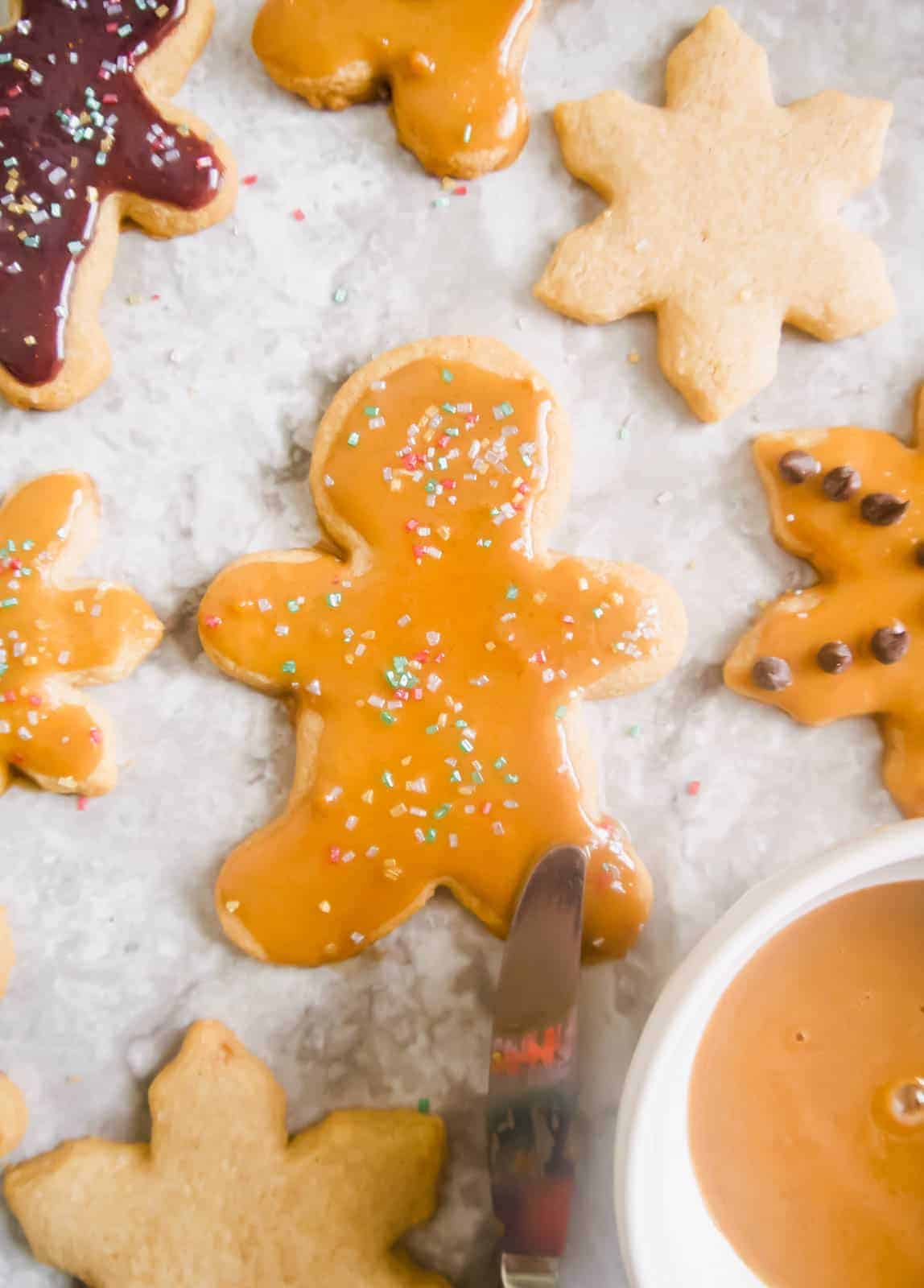 Paleo Cut Out Cinnamon Maple Sugar Cookies Gf
