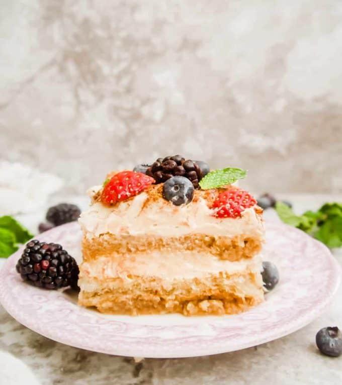 Dairy-Free Fresh Berry Tiramisu | Perchance to Cook, www.perchancetocook.com