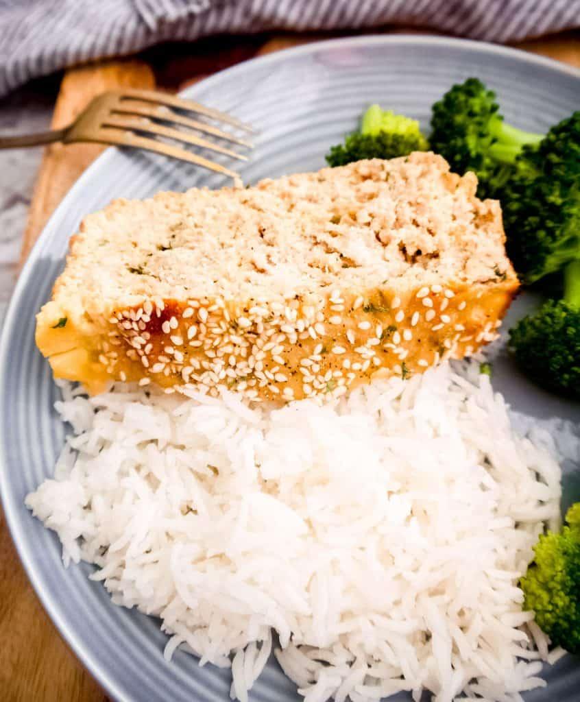 Paleo Honey Sesame Turkey Meatloaf (GF)   Perchance to Cook, www.perchancetocook.com