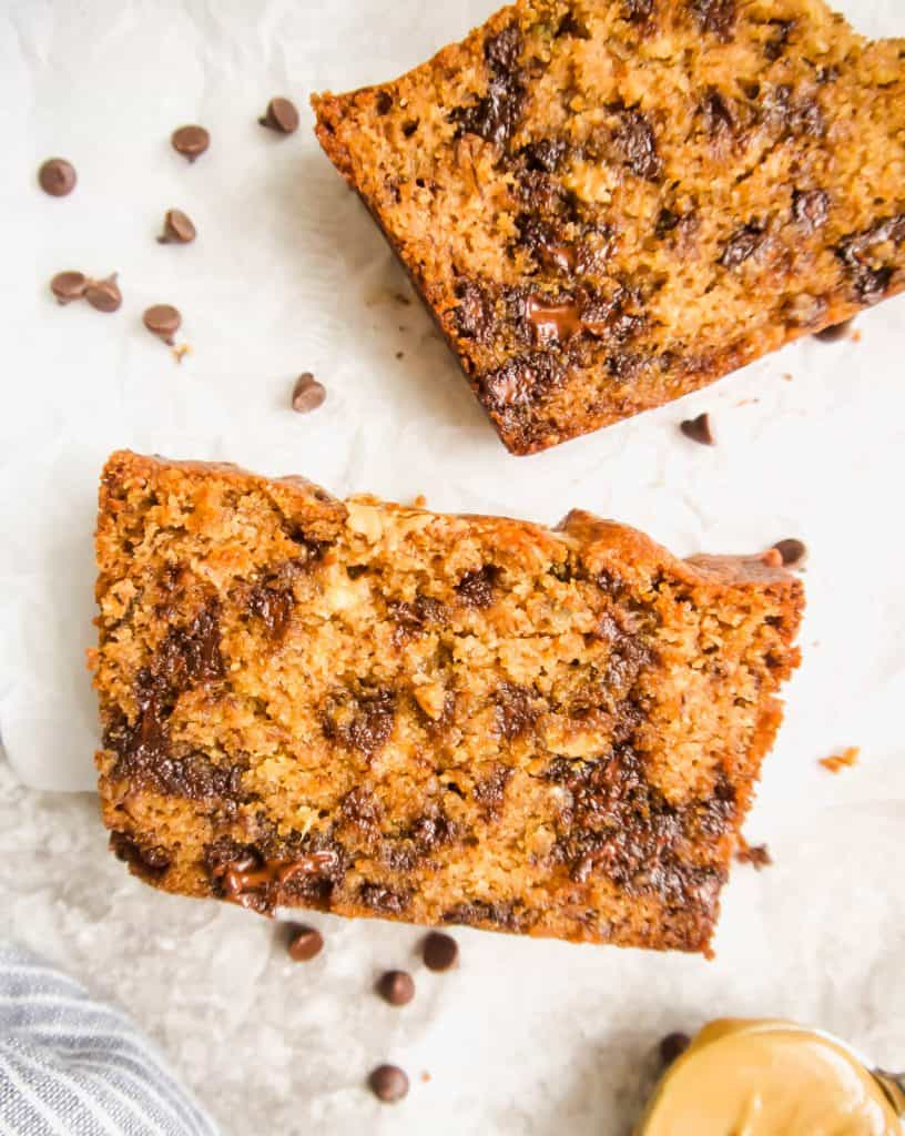 Sunflower Seed Butter and Chocolate Chip Banana Bread (Paleo, GF)   Perchance to Cook, www.perchancetocook.com