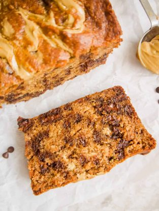 Sunflower Seed Butter and Chocolate Chip Banana Bread (Paleo, GF) | Perchance to Cook, www.perchancetocook.com