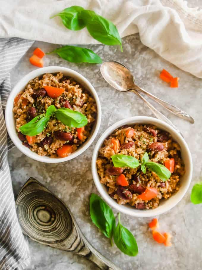 One Pot Ground Turkey, Rice and Beans (GF) | Perchance to Cook, www.perchancetocook.com