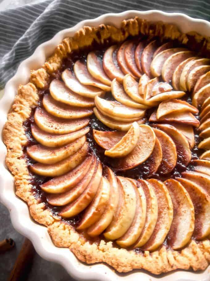 Paleo Apple Tart (Gluten-free, Dairy-free) | Perchance to Cook, www.perchancetocook.com