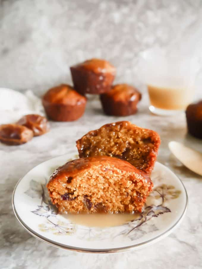 Gluten-Free Paleo Sticky Toffee Pudding Muffins,  Perchance to Cook