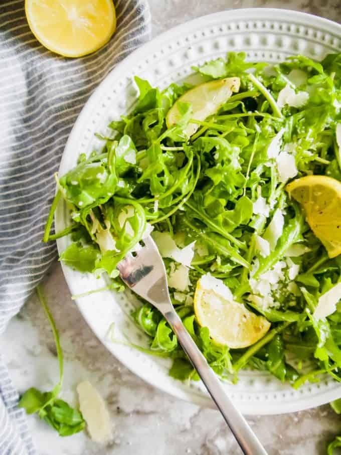 Lemon Arugula Salad   Perchance to Cook, www.perchancetocook.com