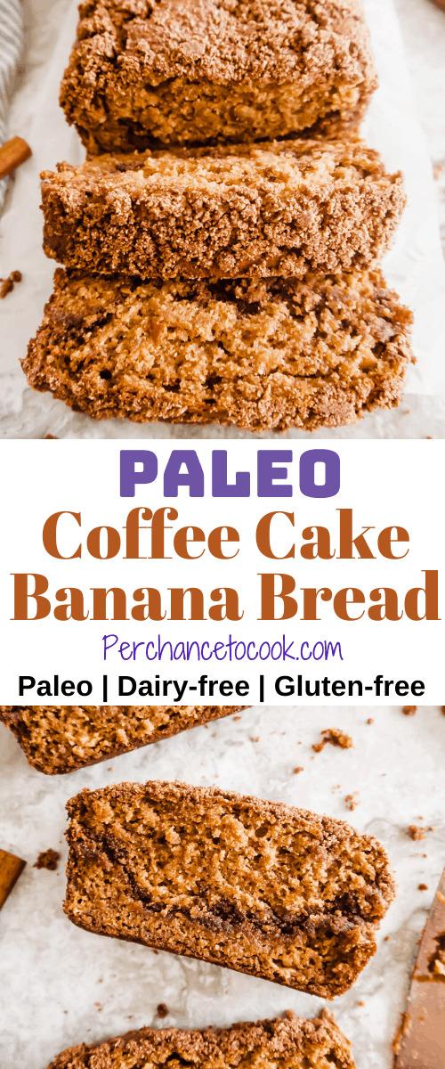 Paleo Coffee Cake Banana Bread (Gluten-free) | Perchance to Cook, www.perchancetocook.com