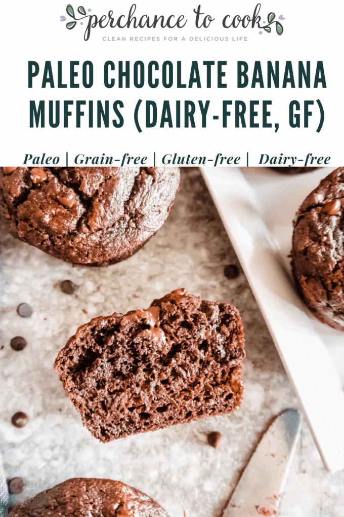 Paleo Chocolate Banana Muffins (Dairy-free, Gluten-free) | Perchance to Cook, www.perchancetocook.com