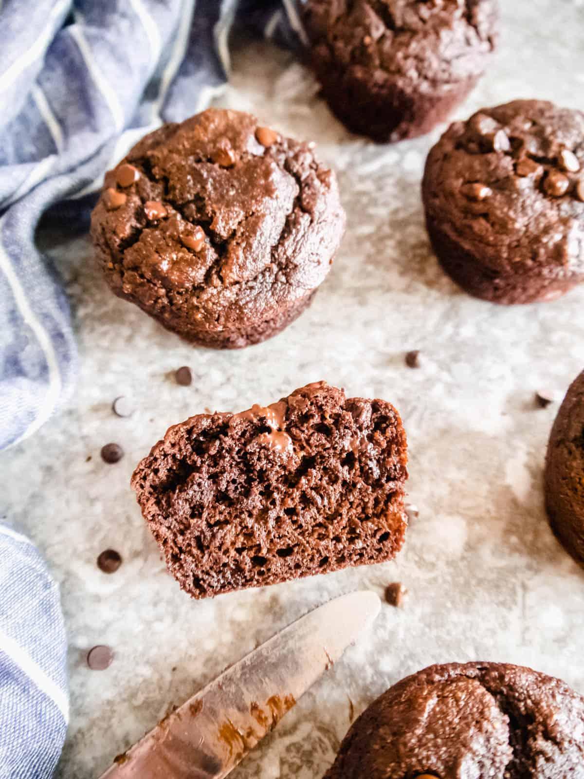 Paleo Chocolate Banana Muffins Dairy Free Gluten Free