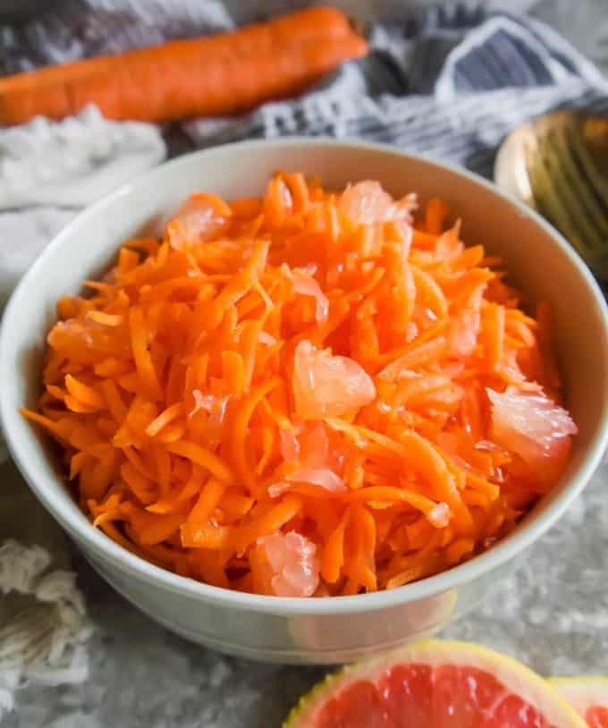 Carrot Grapefruit Salad (Paleo, GF) | Perchance to Cook, www.perchancetocook.com