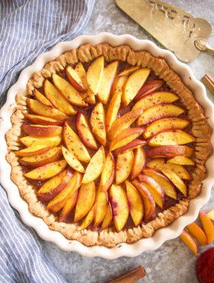 The Best Paleo Nectarine Tart (Dairy free, Gluten free) | Perchance to Cook, www.perchancetocook.com