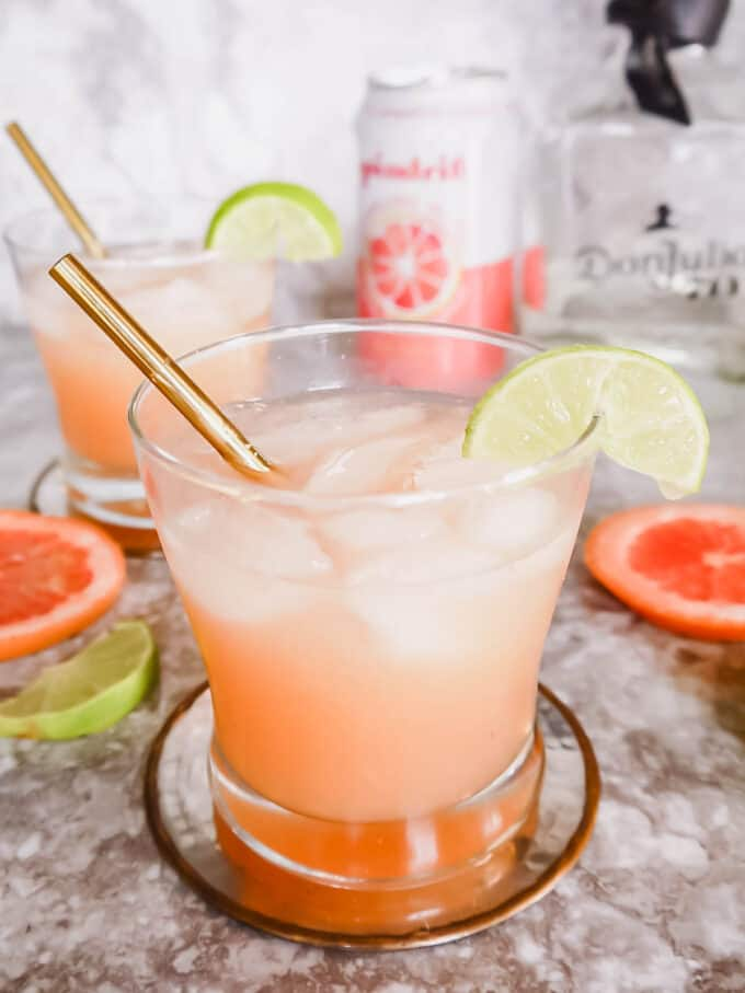 Fresh Paloma Cocktail with Honey Syrup   Perchance to Cook, www.perchancetocook.com