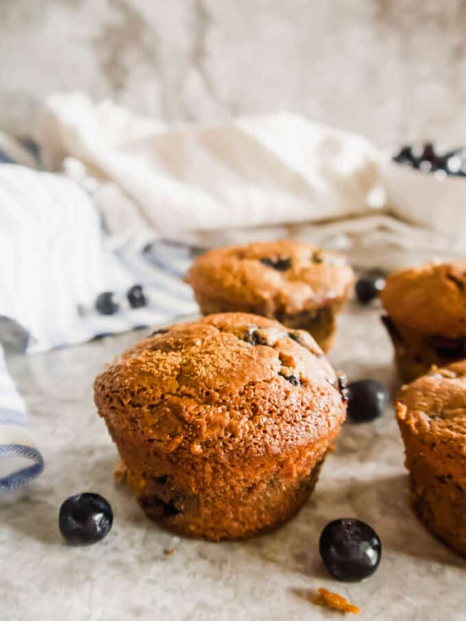 Gluten-free Dairy-free Blueberry Muffins (Paleo)   Perchance to Cook, www.perchancetocook.com