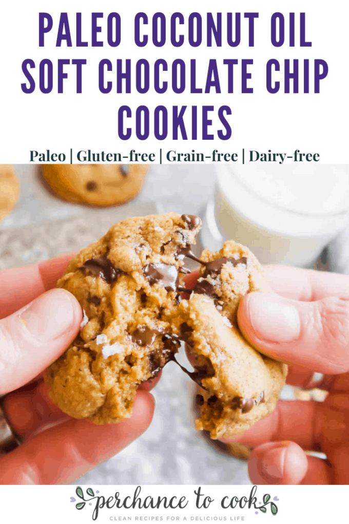 The best grain-free, gluten-free, dairy-free chocolate chip cookies that are crispy on the outside and gooey on the inside. Made with healthier-for-you ingredients.