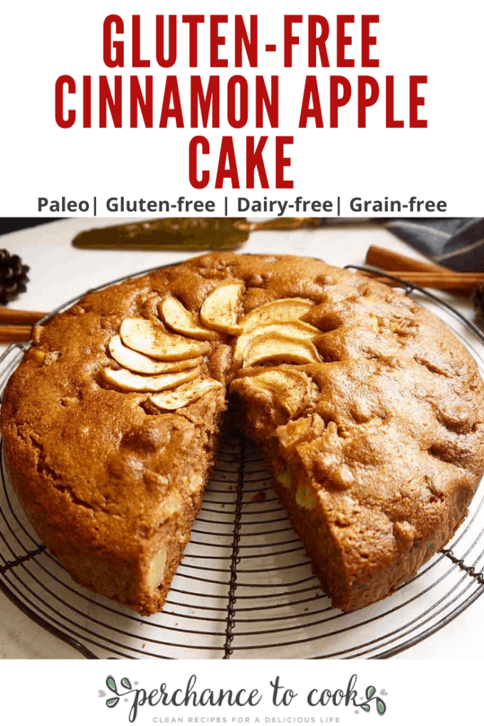 A rustic and fluffy Fall cake full of cinnamon and apples, and naturally Paleo, Dairy-free, and Gluten-free.