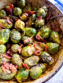 Creamy Brussels Sprouts Casserole (Paleo, Whole30) | Perchance to Cook, www.perchancetocook.com