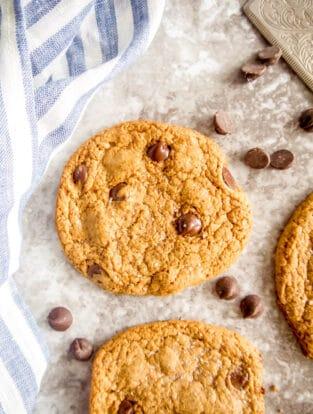 Crispy Paleo Chocolate Chip Cookie Recipe | Perchance to Cook, www.perchancetocook.com
