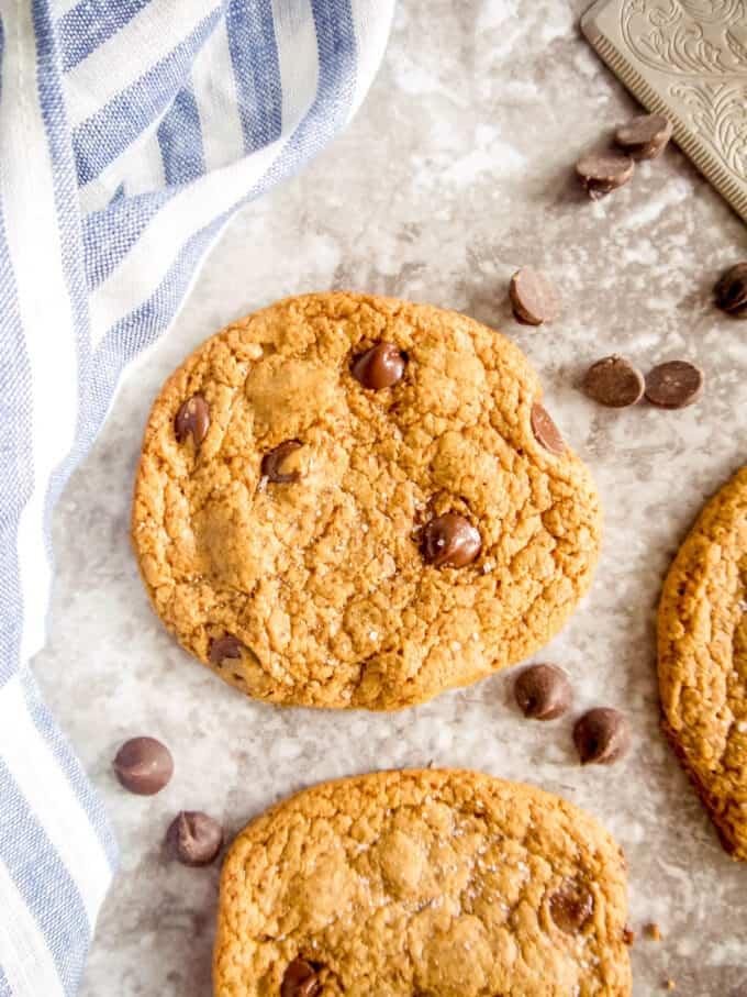 Crispy Paleo Chocolate Chip Cookie Recipe   Perchance to Cook, www.perchancetocook.com