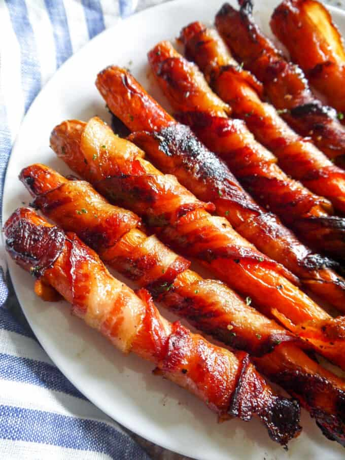 Maple Bacon Wrapped Carrots (Paleo, Gluten-free) | Perchance to Cook, www.perchancetocook.com