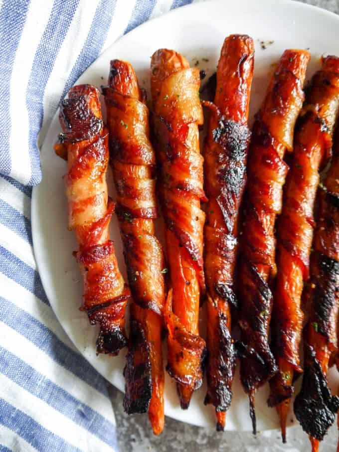Maple Bacon Wrapped Carrots (Paleo, Gluten-free)