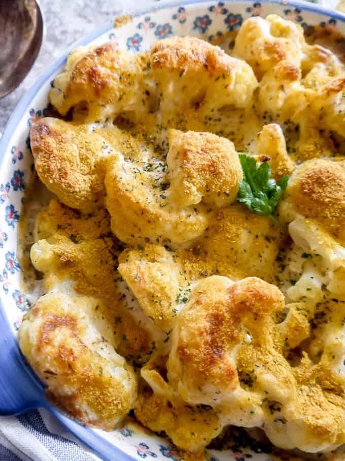 Vegan Cauliflower Gratin (Paleo, Dairy-free) | Perchance to Cook, www.perchancetocook.com
