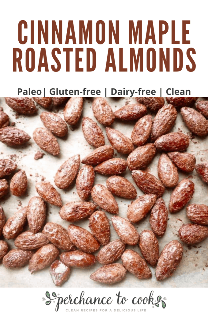 A quick and easy recipe where almonds are roasted in the oven with maple syrup and spices.