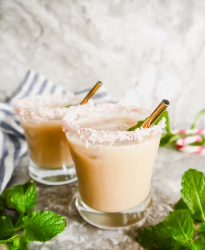 Dairy-free Peppermint White Russian | Perchance to Cook, www.perchancetocook.com