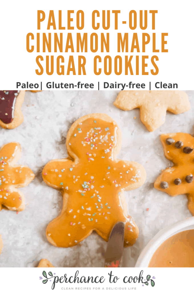 Soft yet crisp sweet cookies, made using maple sugar and grain-free flours. They can easily be made into shapes and decorated (or taste amazing plain).