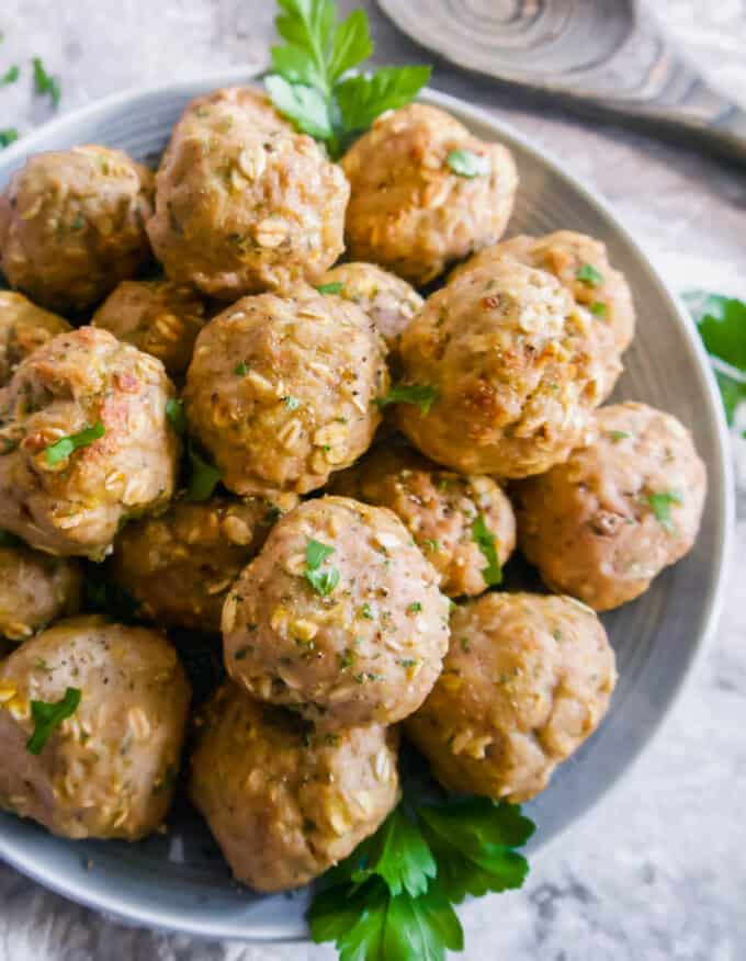 Ground Turkey Meatballs with Oats (Gluten-free, Dairy-free) | Perchance to Cook, www.perchancetocook.com
