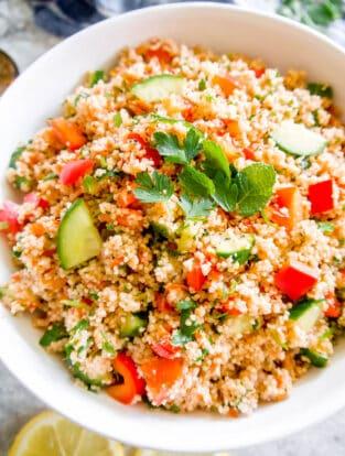 Couscous Tabbouleh Salad (French Tabloué) | Perchance to Cook, www.perchancetocook.com