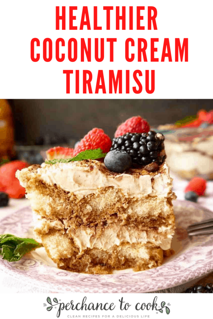 Healthier Coconut Cream Tiramisu recipe. A delicious tiramisu recipe made without heavy cream. It is made with alternative ingredients such as coconut cream instead of heavy cream and coconut sugar instead of white sugar.