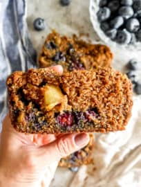 Healthy Apple Blueberry Bread (Paleo, Gluten-free) | Perchance to Cook, www.perchancetocook.com